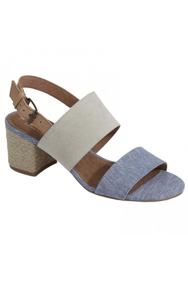 Toms Poppy Birch Suede/ Blue Chambray